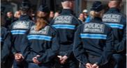 Vue de policiers municipaux à Mulhouse (Haut-Rhin) en 2019